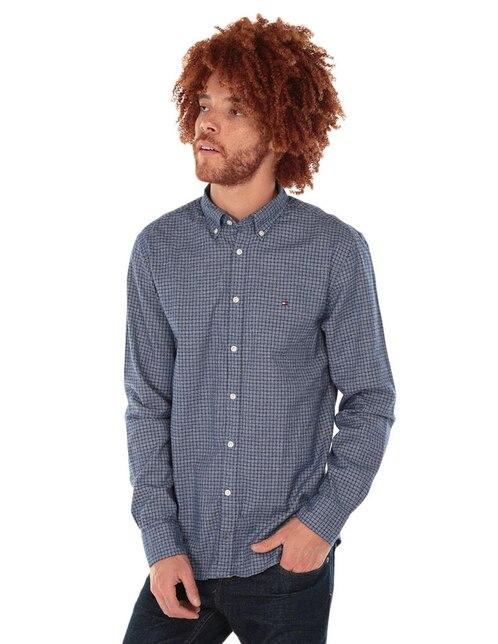 5e0997d967b Camisa casual Tommy Hilfiger corte regular fit azul marino a cuadros