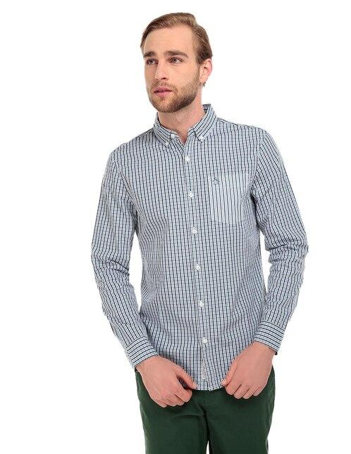 0d4548781d Camisa casual Original Penguin corte slim fit azul marino a cuadros
