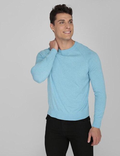 81414e76a1 Suéter Calvin Klein cuello redondo azul