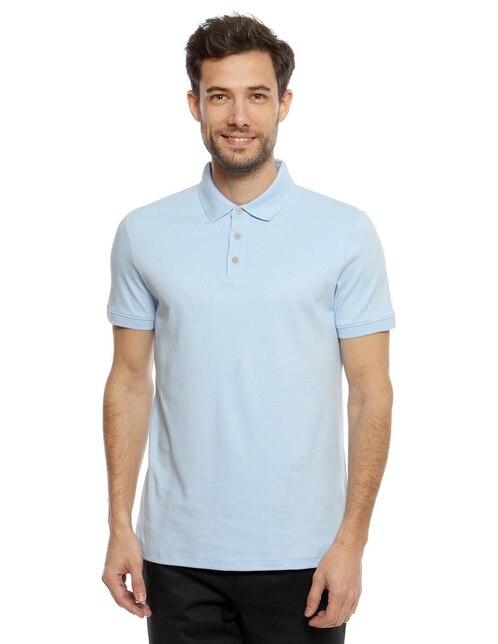 97d2b4f2 Playera polo Calvin Klein corte slim fit azul claro