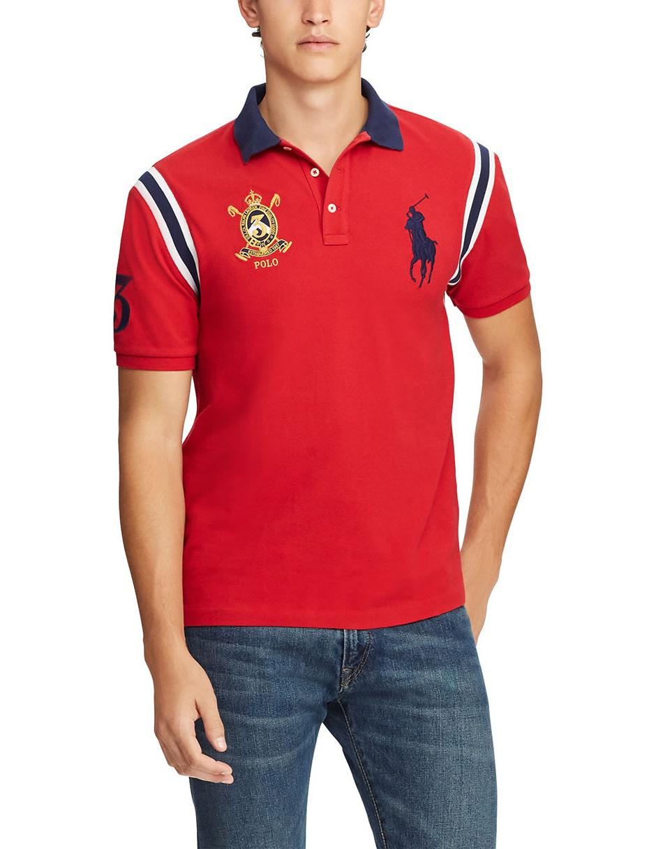 518a66a7ce330 Playera Polo Ralph Lauren corte slim fit roja
