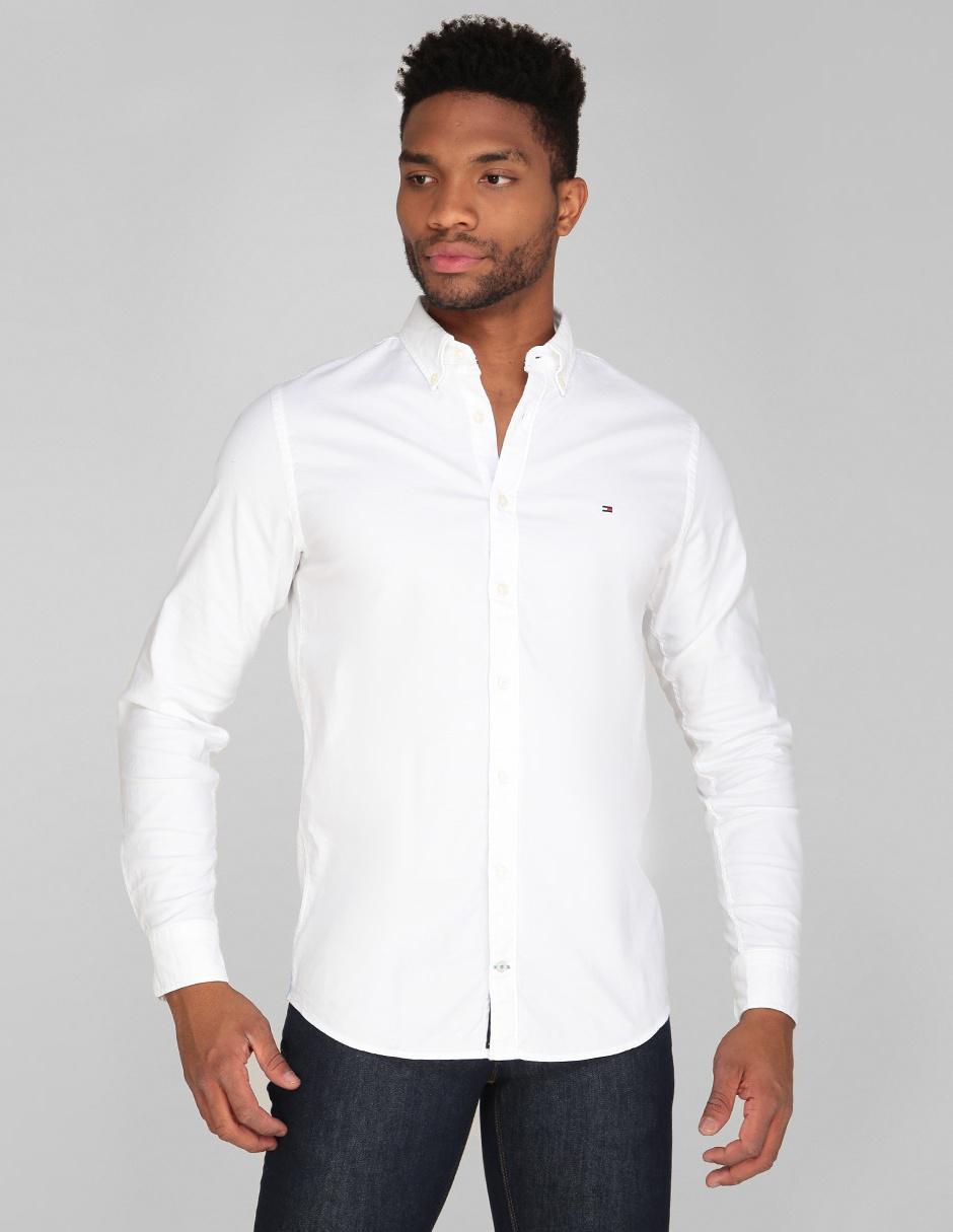 bcd0a1d936d3 Camisa casual Tommy Hilfiger corte regular fit blanca